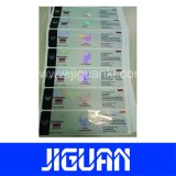 Custom diseño hermoso Efecto del laser marca holográfica ETIQUETA VIAL