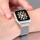 Y casual de negocios de la banda de reloj de pulsera de plata Joyas de metal de la banda de reloj para Apple Iwatch