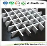 Venda por grosso de materiais de construção de células abertas Grelha de alumínio decorativa de teto falso