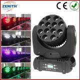 광속 가벼운 12X10W RGBW 4in1 소형 LED 이동하는 헤드 광속 점화