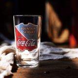 서리로 덥은 선전용 선물 컵 코카콜라 유리제 컵 주스 컵