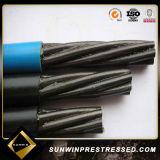 15.24mm Unbonded faible relaxation PC Brin d'acier
