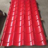 Strato d'acciaio ondulato del tetto per materiale da costruzione