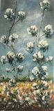 ホーム装飾のための組織上の効果のハンドメイドの農場のキャンバスの芸術の綿フィールドパレットナイフの油絵