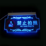 Illuminated Clear Acrylic Signage, POS LED posting