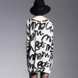 جديد تصميم نساء طباعة كنزة فعليّة حجم [بولّوفر], طويلة أسلوب بيع بالجملة من الصين