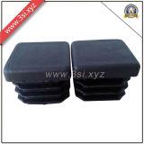 LDPEの正方形の管の挿入はプラグを差し込み、椅子の保護(YZF-H121)のための黒の