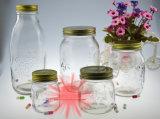 Vaso di vetro caldo dell'ostruzione di memoria di vendita 3PCS 300ml-800ml con il coperchio del metallo