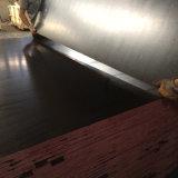 A película da camada da cor do preto do folheado do núcleo do Poplar enfrentou a madeira compensada (12X1250X2500mm)