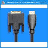 24K Gold überzogenes DVI Mannes-bis 1.4 v-HDMI 19p dem Kabel zu des HDMI Kabel-DVI 24+1