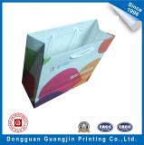 Kraft bianco Paper Shopping Bag con Cotton Handle