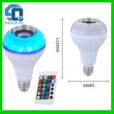 E27 RGBW 스피커를 가진 다채로운 LED Bluetooth 먼 음악 스피커 화재 프레임 효력 당 전구