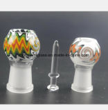 Vrouwelijke Mond 14.5mm, 18.8mm van de Waterpijp van het gebrandschilderd glas met de Nagels van het Glas