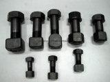 Classe 12.9 voie vis hexagonale en acier et écrou pour excavatrice Doze plaque de patin de chenille