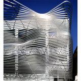 Los paneles de aluminio curvados para el uso del sistema de la pared de cortina