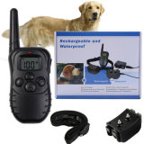 2 Hunde in 1 nachladbaren und wasserdichten 300 Metern FernsteuerungsElektroschock-Anti-Streifen Haustier-Hundekatze-Trainings-Muffe mit LCD-Bildschirmanzeige ab