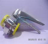 valvole a farfalla sanitarie della saldatura dell'acciaio inossidabile 304L/316L con la maniglia della sfera