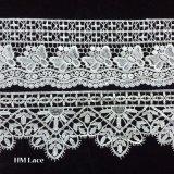 커튼 레이스 웨딩 드레스 복장을%s 꽃 수를 놓은 폴리에스테 그물 레이스 직물