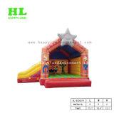 Fallhammer-aufblasbares Plättchen-kombiniertes federnd Schloss für Kinder