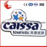 Fumetto promozionale con il distintivo olimpico del tasto dello stagno di spilla di sicurezza
