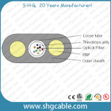 2-12 cabo ao ar livre liso da fibra óptica de Unitube FTTH das fibras (GYFXY)