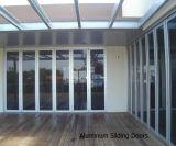 Porte en verre se pliante en aluminium