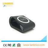 Mini cargador sin hilos portable anti del diseño que patina para los teléfonos elegantes estándar de Qi
