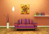 Zuiver Met de hand geschilderd Olieverfschilderij van Zonnebloemen