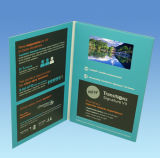 Coche de 5 pulgadas de folleto de publicidad de vídeo
