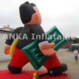 Uomo personalizzato dei contanti del fumetto con la pubblicità gonfiabile dei soldi