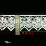 testo fisso di cucito per l'indumento, testo fisso d'abbigliamento L005 del merletto della maglia di bianco di 9.5cm del merletto