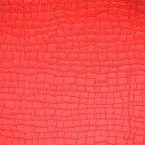 Cuoio di cuoio sintetico sgualcito del sacchetto del pattino del Faux del PVC