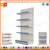Singola scaffalatura di parete d'acciaio personalizzata parteggiata Manufactured del supermercato (Zhs588)