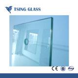O vidro temperado com bordas chanfradas / orifícios