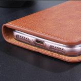 手ストラップPUのiPhone 8のための革電話札入れの箱