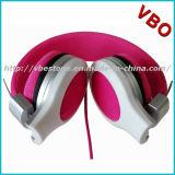 Auscultadores elegantes das crianças da cor-de-rosa da capa protetora para as orelhas para meninas