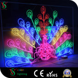Fairyt stellt 2D dekorativer Pfau des Motiv-LED Licht dar