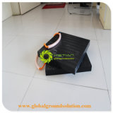 سوداء مرفاع مدّاد كتل مع مضادّة الزلّة خطوط /HDPE بلاستيكيّة مرفاع ساق دعم كتلة
