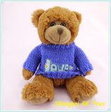 Brinquedos de pelúcia Ursinho de peluche em camisola de malha