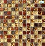 mozaïek van het Kristal van 8mm het Bruine voor Deco Binnen