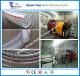 Machines de boyau renforcées par acier spiralé de PVC, chaîne de production spiralée en plastique de pipe de fil de PVC