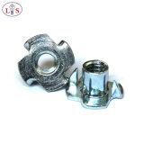 T-Noix d'acier du carbone/noix de té/noix galvanisées