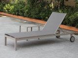 Het beste verkoopt de Moderne Euro Chaise van het Terras van de Tuin van de Stijl OpenluchtStoel van de Zitkamer met de ZijLijst van Wielen
