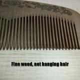 Pente de madeira personalizado do cabelo do pêssego