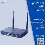 Venta de Openwrt caliente a 2,4 Ghz, 300Mbps Router inalámbrico en interiores con Mediatek Mt7620una potencia de 12V DC