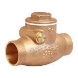El sudor de bronce de la válvula de retención de giro
