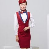 Großhandelsform-Entwurfs-Frauen-Flugbegleiter-elegante Fußleisten-Klage-Uniform