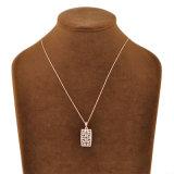 流行のギリシャの主デザインRetangleの吊り下げ式の水晶金のネックレス