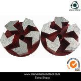 Pavimentação de chão de metal Placas de diamante / polimento Plugues / Plugues de metal