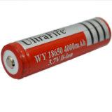 18650懐中電燈の再充電可能なリチウム電池3.7Vの大容量18650リチウム電池